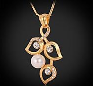 Golden Choker Necklaces / Pendant Necklaces / Statement Necklaces / Vintage Necklaces / PendantsCrystal / Imitation Pearl / Copper /