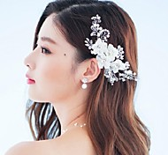 Women's Rhinestone Crystal Alloy Fabric Headpiece-Wedding Special Occasion Outdoor Flowers Barrette