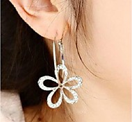 Women's Drop Earrings Costume Jewelry Rhinestone Alloy Flower Jewelry For Wedding Party Daily Casual Sports