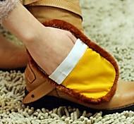 abordables -zapato multifunción suave limpiador de lana de imitación (color al azar)