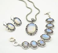 Недорогие -toonykelly старинные антикварные серебро прозрачный камень (серьги и ожерелье и браслет) комплект ювелирных изделий