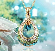 cheap -Women's Drop Crystal Rhinestone Pendant Necklace  -  Fashion White Fuchsia Blue Necklace For Wedding Party Daily