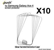 Недорогие -высокая прозрачность HD ЖК-экран протектор для Samsung Galaxy Ace 4 g313h (10 штук)