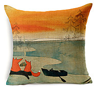 cheap -1 pcs Cotton/Linen Pillow Cover, Animal Print Beach Style