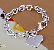 cheap -Women's Charm Bracelet Love Silver Plated LOVE Jewelry Christmas Gifts Wedding Party Daily Casual Costume Jewelry Silver