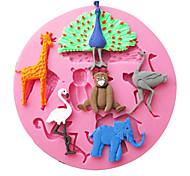 павлин кран жираф выпечки помадка торт Choclate конфеты плесень, l9.2cm * w9.2cm * h1.1cm