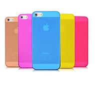 Hülle Für iPhone 5 Hülle Ultra dünn Mattiert Rückseitenabdeckung Volltonfarbe Weich PC für iPhone SE/5s iPhone 5