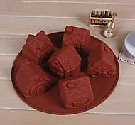 6 trous petite maison gâteau de forme moule