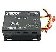 Xincol® Vehicle Car DC 24V to 12V 30A Power Supply Transformer Converter-Black