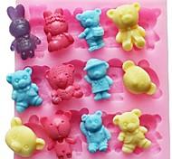 Недорогие -нести кролик животных в форме помады торт шоколадный силиконовые формы украшения торта инструментов, l11.4cm * w10.6cm * h1.4cm