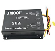 cheap -Xincol® Vehicle Car DC 24V to 12V 30A Power Supply Transformer Converter with Fan Regulation-Black