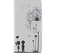 COCO FUN® Love Dandelion Pattern PU Leather Case with Screen Protector and USB Cable and Stylus for iPhone 5/5S
