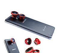 cheap -3-In-One Magnetic 180°Fish Eye Lens and Wide Angle with 0.67X Macro Lens for Samsung Mobile Phone