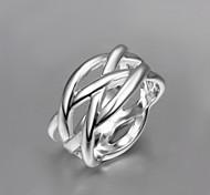 cheap -2016 Cheaper Mesh Fashion Women 925 Sterling Silver Statement Ring