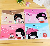cheap -Japanese Girl Pattern Plastic A4 File Bag(1 PCS)