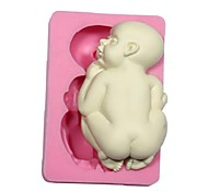 cheap -Mold Sleeping Baby For Pie For Cookie For Cake Silicone Eco-friendly DIY 3D