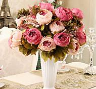 1 букет искусственный пион пионы цветы 8 голова шелковый цветок свадьба дом вечеринка декор европейский стиль большой