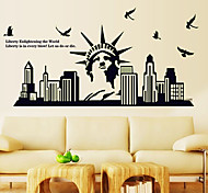 cheap -Luminous Environmental Removable Statue of Liberty Tags & Sticker