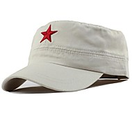 Unisex Vintage/Party/Work/Casual All Seasons Cotton Star Military Hat