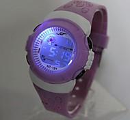 Недорогие -Кварцевый Цифровой электронные часы Наручные часы Повседневные часы силиконовый Группа Cool Фиолетовый