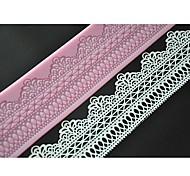 Quatre c outils gâteau de prise douce tapis de dentelle dentelle moule en silicone couleur rose lfm-11