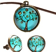 Women's Party Daily Casual Leather Resin Copper Alloy Earrings Necklaces