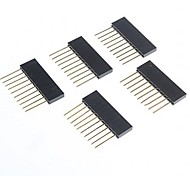 высокое качество 2,5 мм шаг 10-контактный разъем для женщин заголовки ПИН-код для Arduino (5 шт)