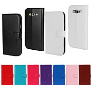 Solid Color PU Leather Full Body Wallet Protective Case with Stand for Samsung Galaxy Grand Neo I9060