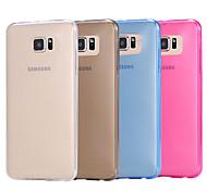 чистый цвет мягкий чехол для Samsung Galaxy S6