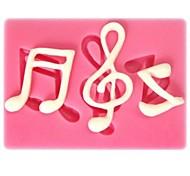 Недорогие -музыкальная нота образный помады торт шоколадный силиконовые формы, кекс украшения инструменты, l6cm * w4.3cm * h0.7cm