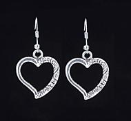 Lovely Alloy Heart shaped Drop Earrings
