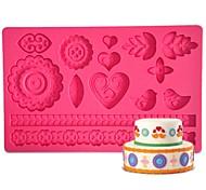 FOUR-C gumpaste формы торт дизайн формы, торт поставки помадные коврик сахарная паста коврик торт инструменты цвет розовый