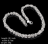 Women's Chain Necklaces Silver Sterling Silver Fashion Costume Jewelry Jewelry For Party Casual