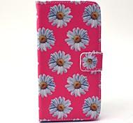 EFORCASE Pink Chrysanthemum Painted PU Phone Case for Galaxy S6 edge S6 S5 S4 S3 S5 mini S4 mini S3 mini