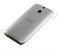 For HTC Case Ultra-thin / Transparent Case Back Cover Case Solid Color Soft TPU HTC