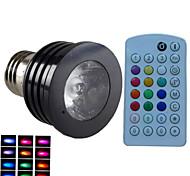 Недорогие -E14 GU10 B22 E26/E27 Точечное LED освещение MR16 1 светодиоды Высокомощный LED Диммируемая Активация звуком На пульте управления