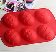 Формы для выпечки силиконовые яйцо формы для выпечки для шоколад торт желе (случайные цвета)