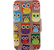 cheap -Case For HTC HTC Case with Stand with Windows Flip Full Body Cases Owl Hard PU Leather for