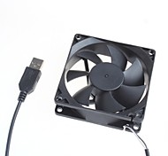 cheap -8Cm Silent Fan / Computer Server Chassis Cooling Fan 5V - Black Color
