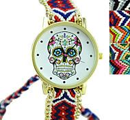 Недорогие -Жен. Кварцевый Наручные часы Модные часы Повседневные часы Материал Группа Кулоны Череп Черный Разноцветный