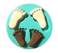 orma piede fondente bambino silicone stampi torta della muffa del cioccolato in cucina cottura strumento zucchero torta decorazione