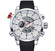 Недорогие -мужские модные часы кварцевые часы, водонепроницаемые светодиодные многофункциональные (разных цветов)