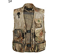 2015 Summer Camouflage Grid Mesh Breathe Freely  High Grade Cotton Mountifational  Fishing Hunting Vest