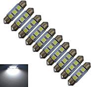 0.5W Festoon Decoration Light 3 SMD 5050 60lm Cold White 6000-6500K DC 12V