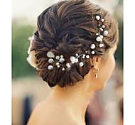 Недорогие -6pcs / lot перлы шпильки головные для свадебного платья элегантный стиль
