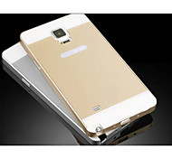 Special Design Solid Color Metal Back Cover and Bumper for Samsung Galaxy NOTE 4