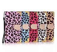 For Samsung Galaxy Case Card Holder / Flip Case Full Body Case Leopard Print PU Leather Samsung S6 edge