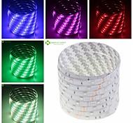 SENCART 5 M 150 5050 SMD Branco Quente/Branco/RGB/Vermelho/Amarelo/Azul/VerdeProva-de-Água/Cortável/Controlo