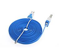 2x 3м плоским микро Зарядное устройство USB кабель для передачи данных