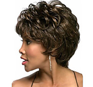 Europe And The United States With Middle-Aged And Old Short Wig Dark Brown Natural Curly Wig